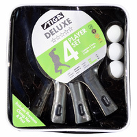 Stiga Deluxe 4 Player Table Tennis Set